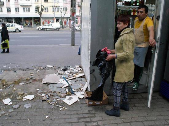 Вцентре Калининграда снесли две палатки сфаст-фудом